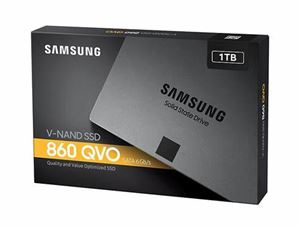 "Picture of Samsung SSD 860 QVO 1TB, MZ-76Q1T0BW, 2.5"" 7mm SATA (550MB/s Read, 520MB/s Write), 3 Year Warranty"